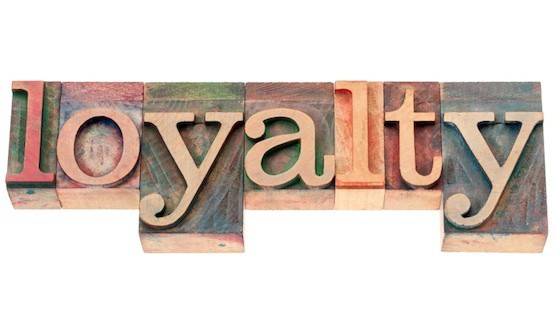 loyalty word in wood type
