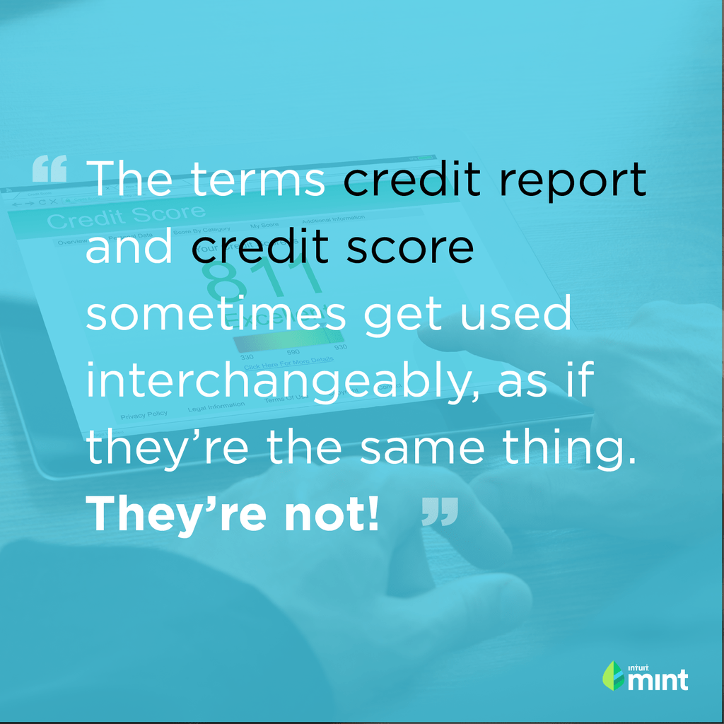 Credit Score vs Credit Report