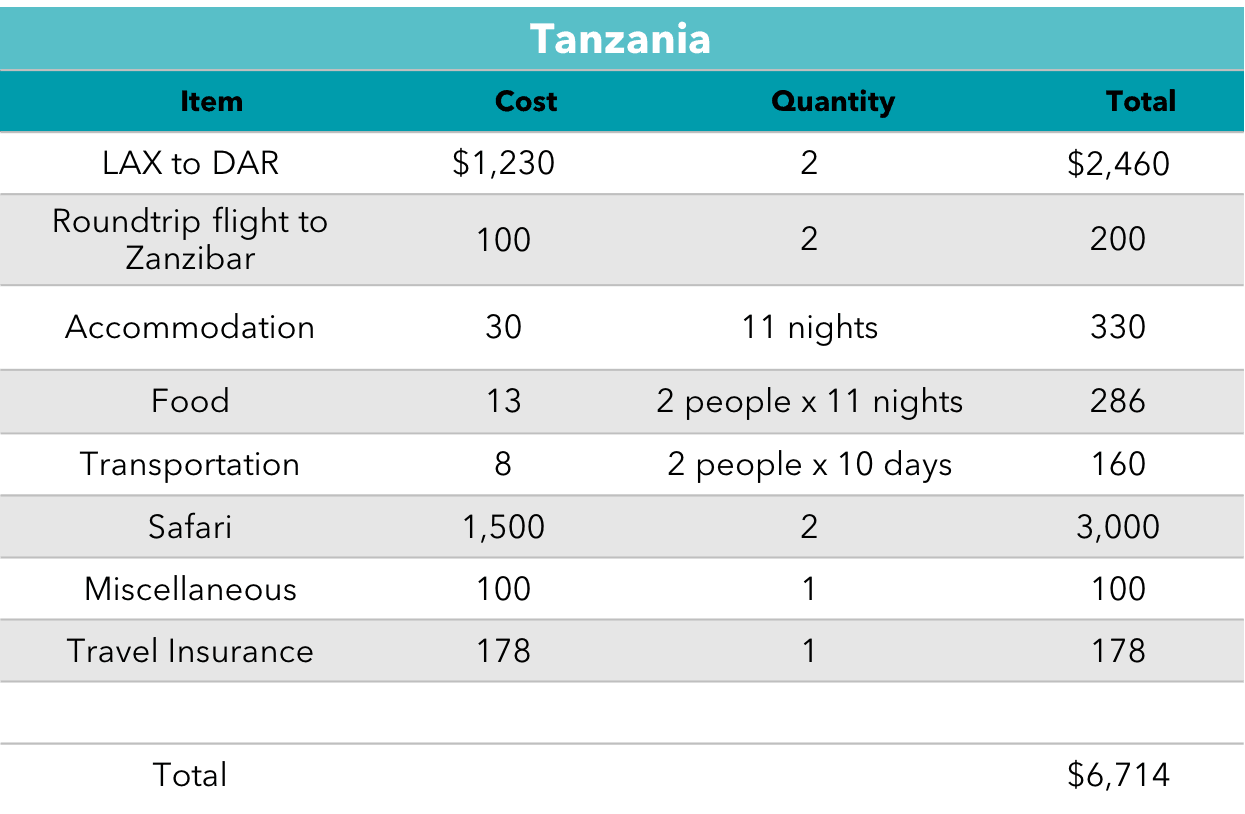 Tanzania Budget