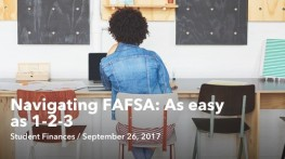 Sep 26 Navigating FAFSA As easy as 123