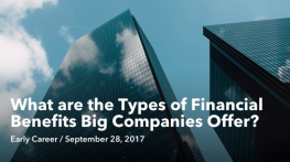 Sep 28 What are the Types of Financial Benefits