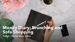 Money Diary Brunching and Sofa Shopping