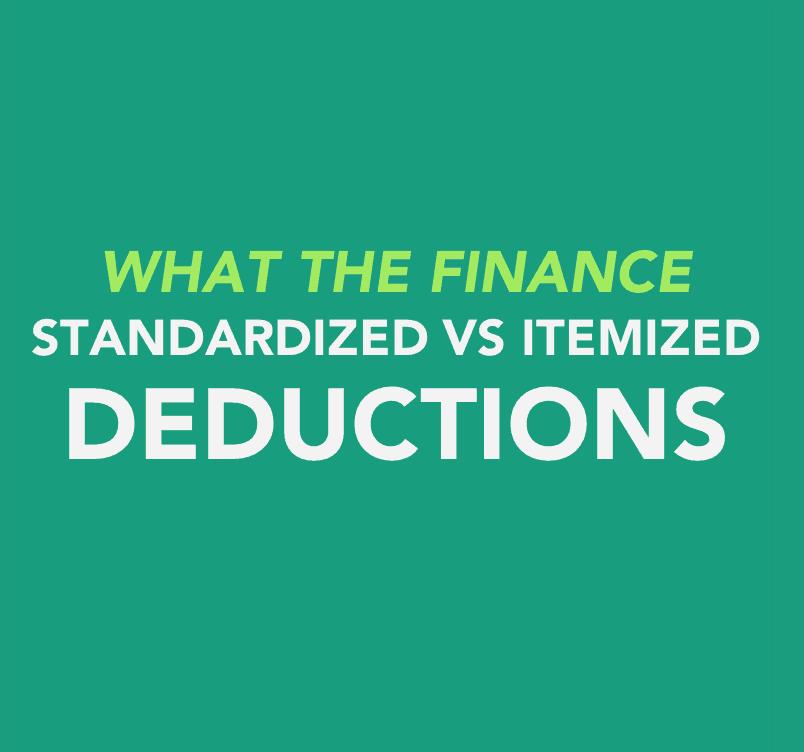 Standardized vs Itemized Deductions