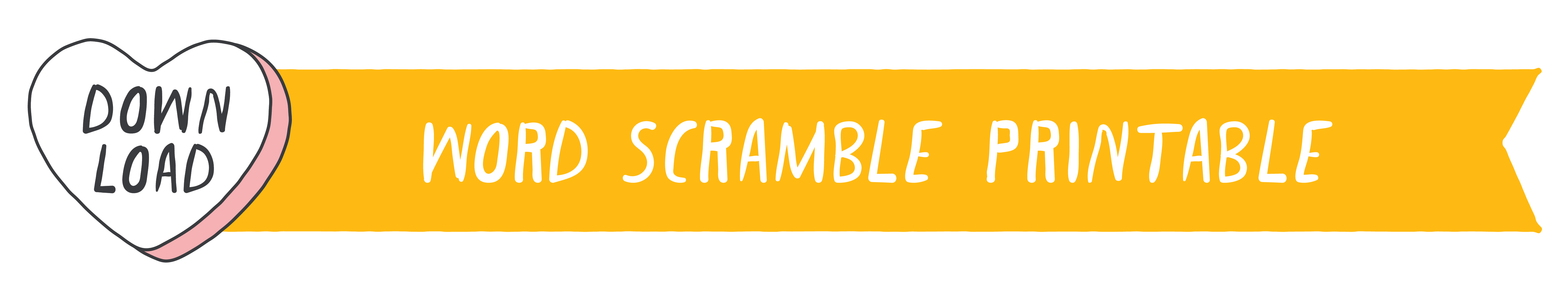 Valentine's Day Scramble Printable