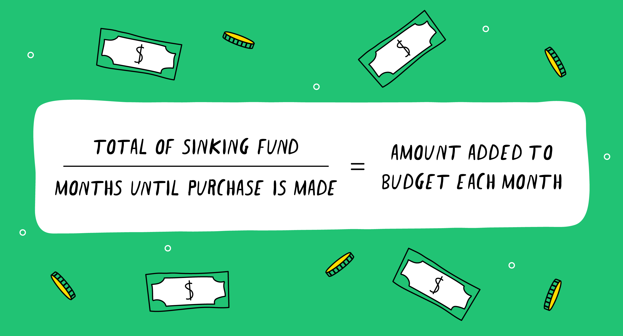 the definition of a sinking fund with formula