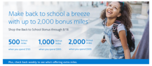 American Airlines back to school spending promotion