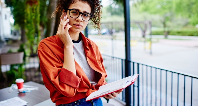 Sad,Ethnic,Female,Student,In,Casual,Outfit,With,Eyewear,Looking
