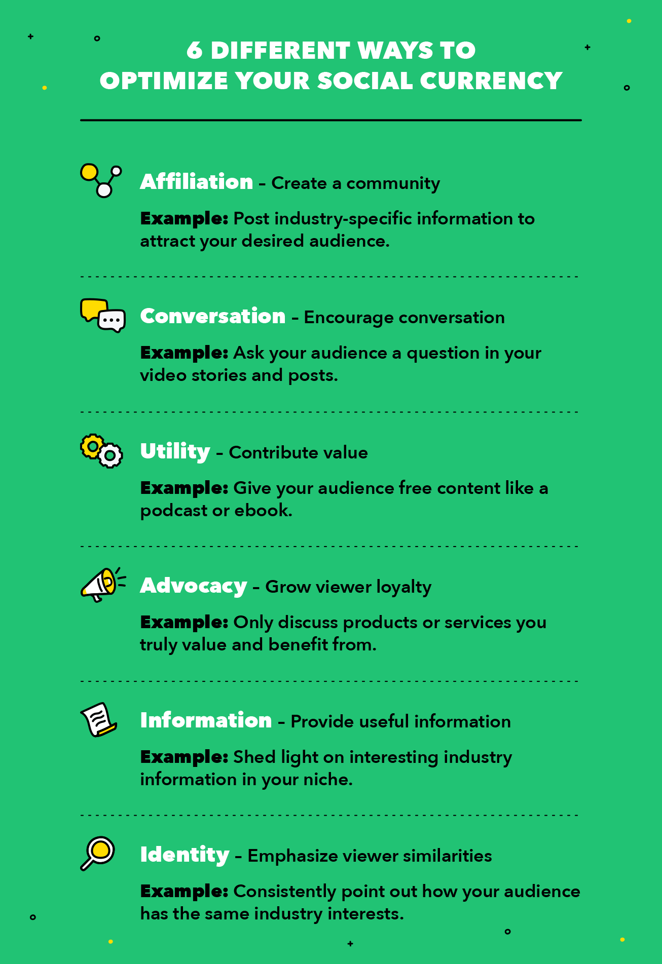 6 Different Ways to Optimize your Social Currency