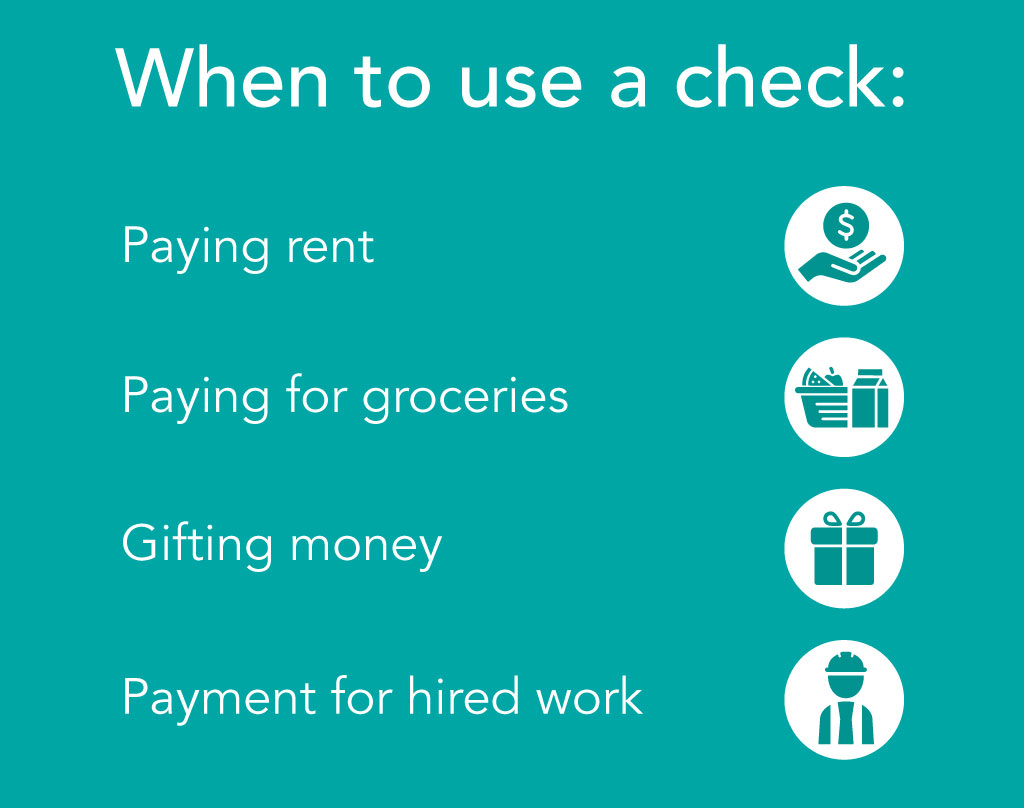 When to use a check