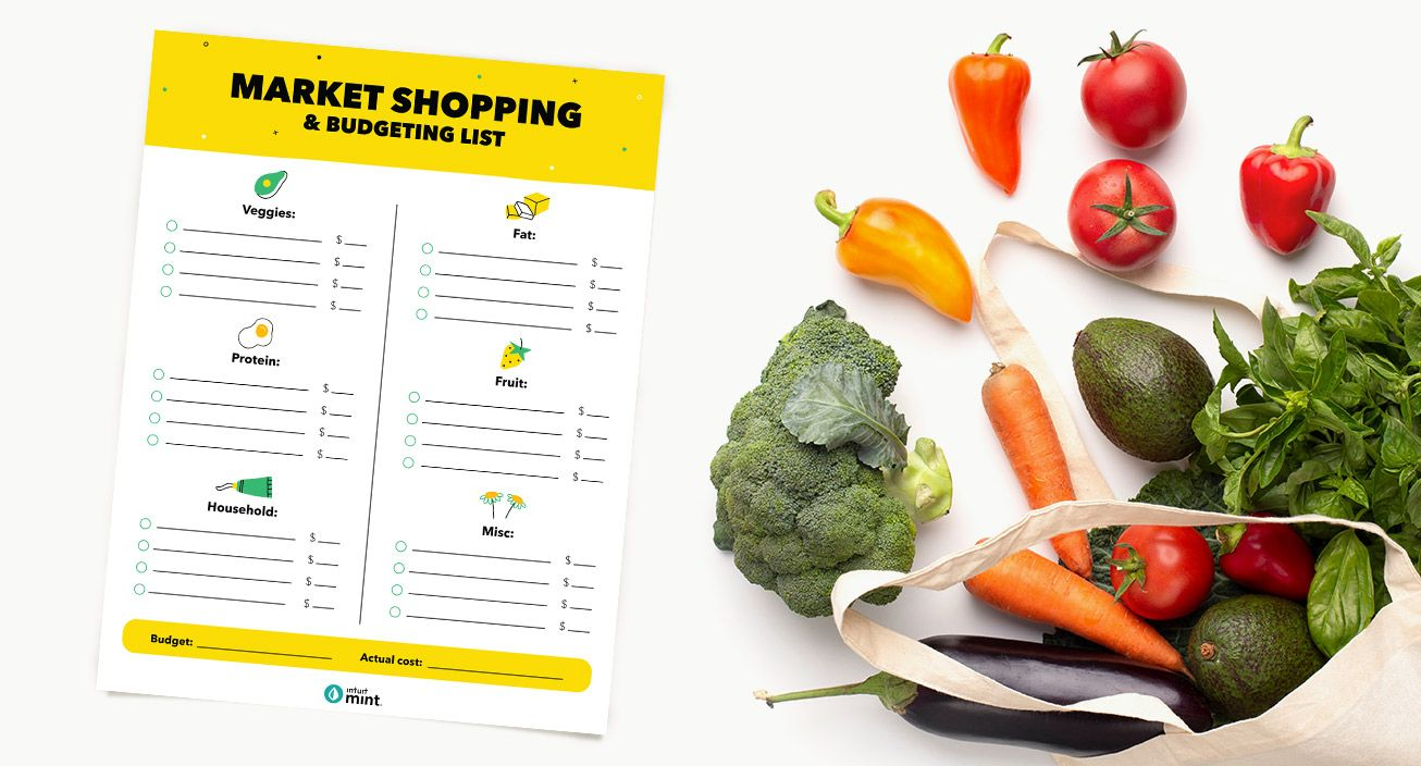 Grocery Store Shopping Printable Mockup