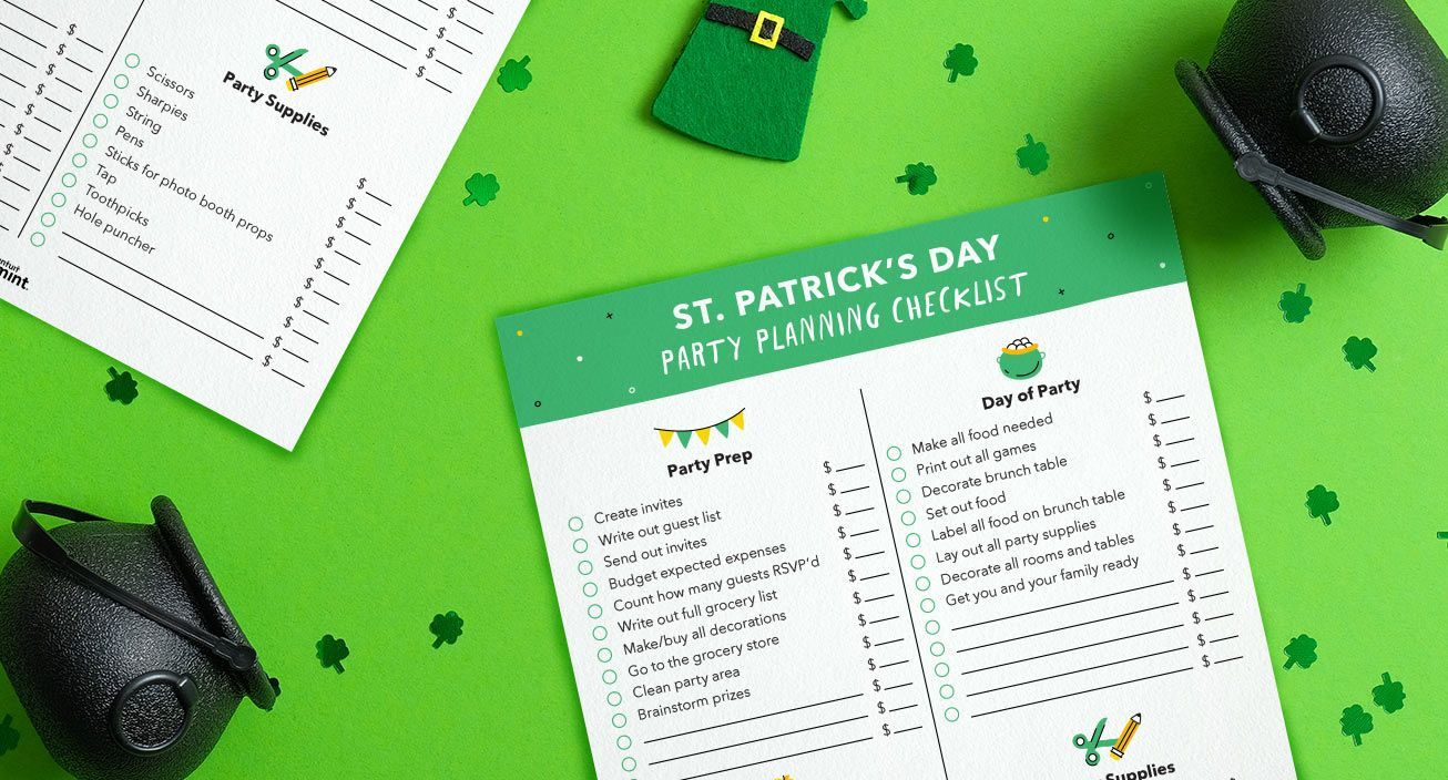 Mockup St. Patrick's Day Party Planning Checklist