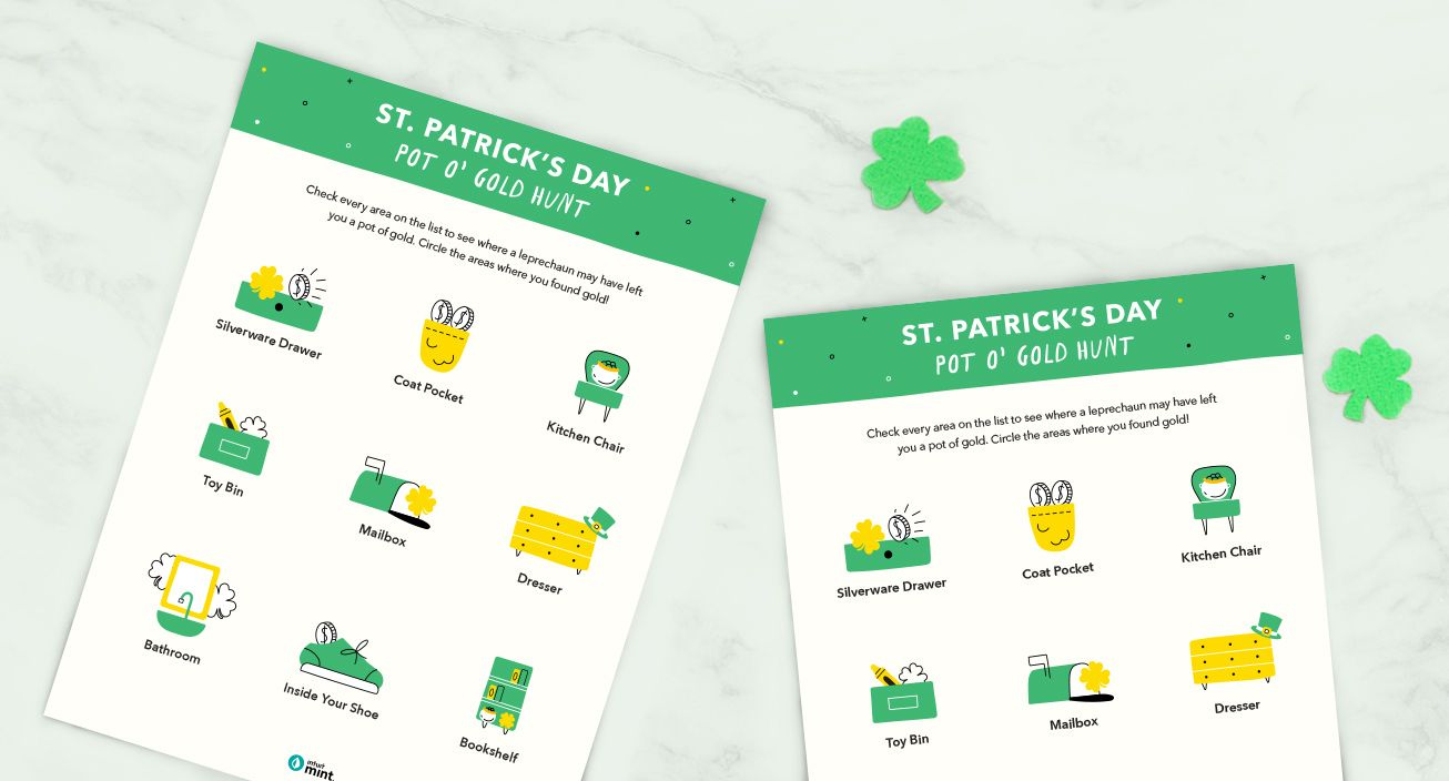 Mockup St. Patrick's Day Pot O' Gold Hunt