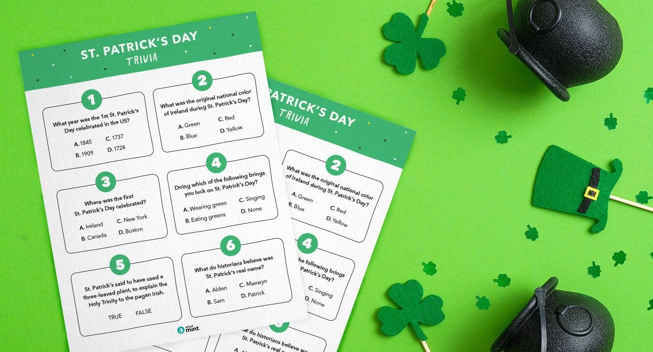 Mockup St. Patrick's Day Trivia