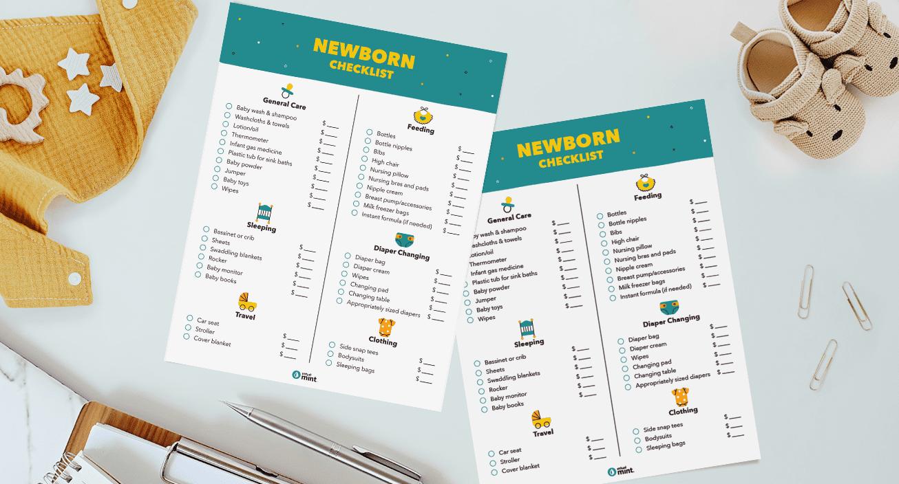 Newborn Checklist Mockup