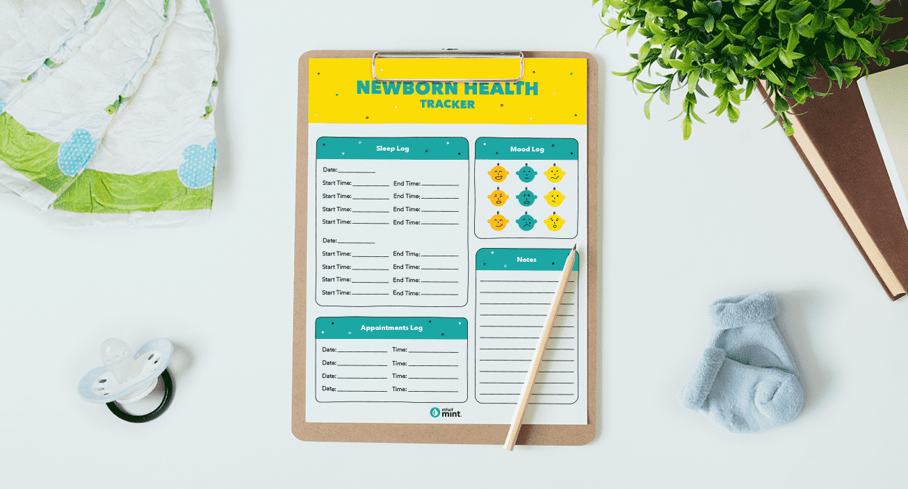 Newborn Health Tracker Mockup