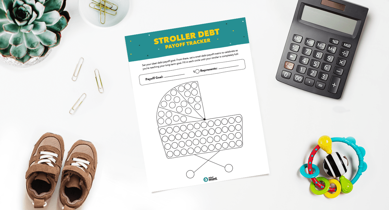 Stroller Debt Payoff Tracker Mockup