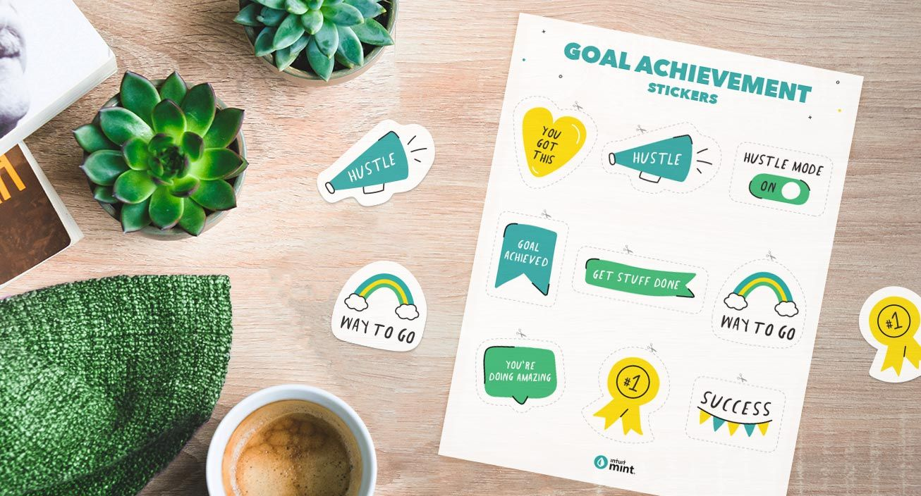 Goal achievement mockups