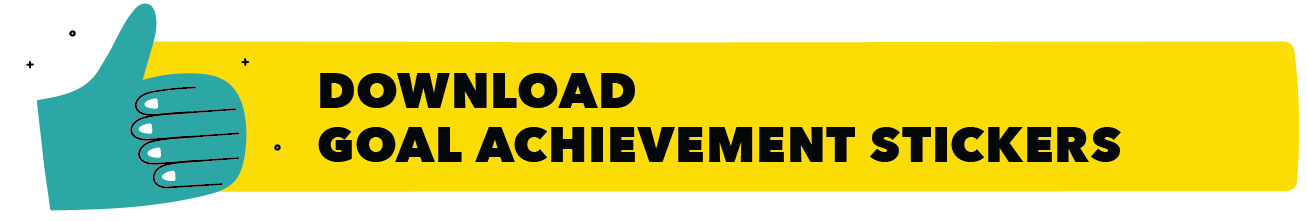 Goal achievement stickers download