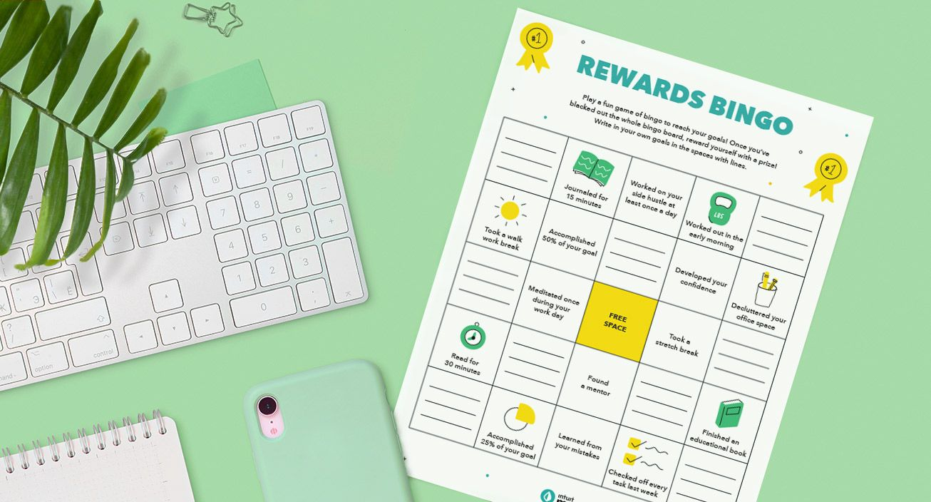 Rewards bingo mockup