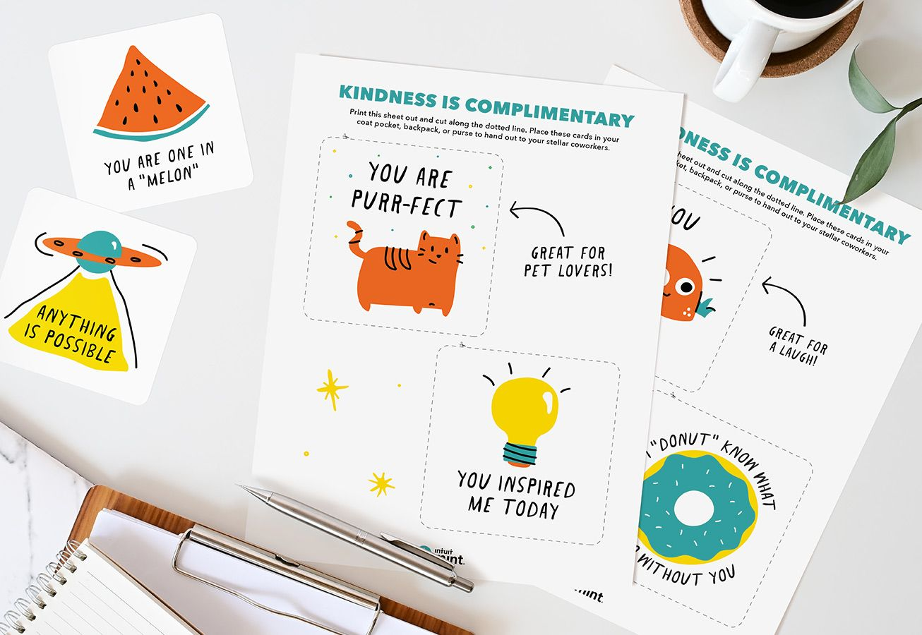 kindness compliment cards