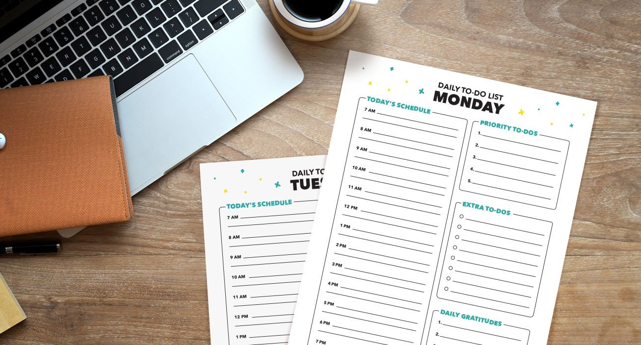Daily To-Do List Mockup
