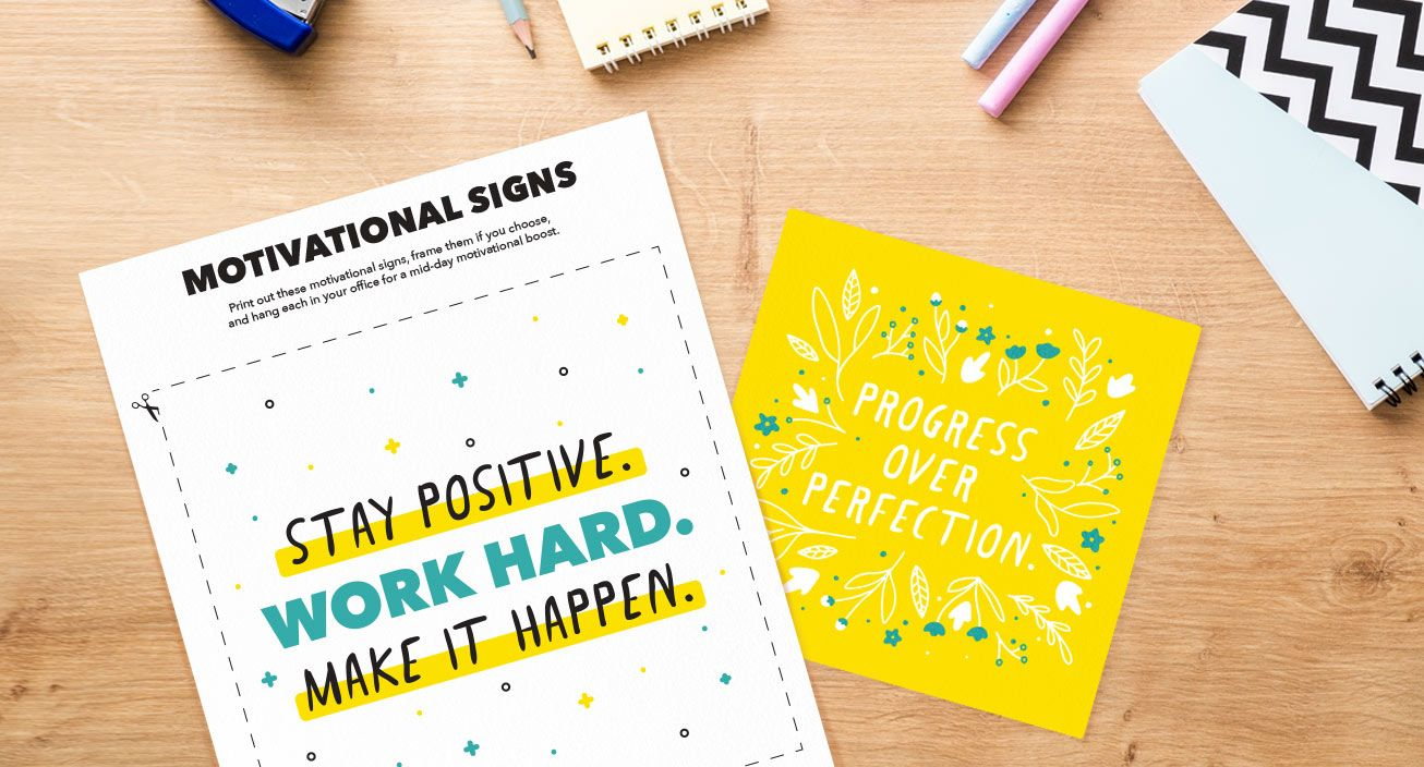 Motivational Signs Mock-Up