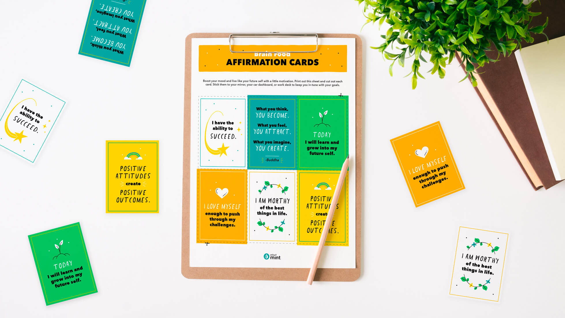 affirmation cards for journaling