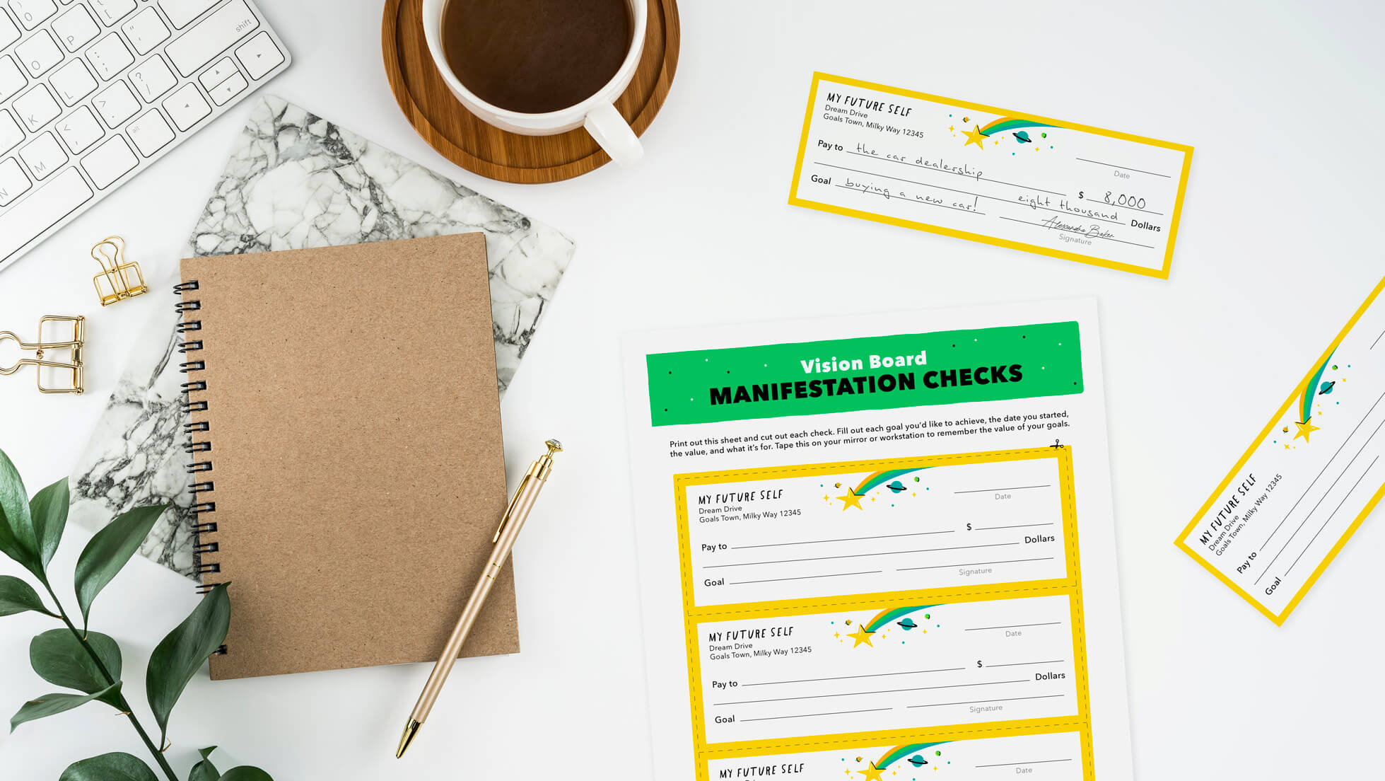 manifestation checks printable