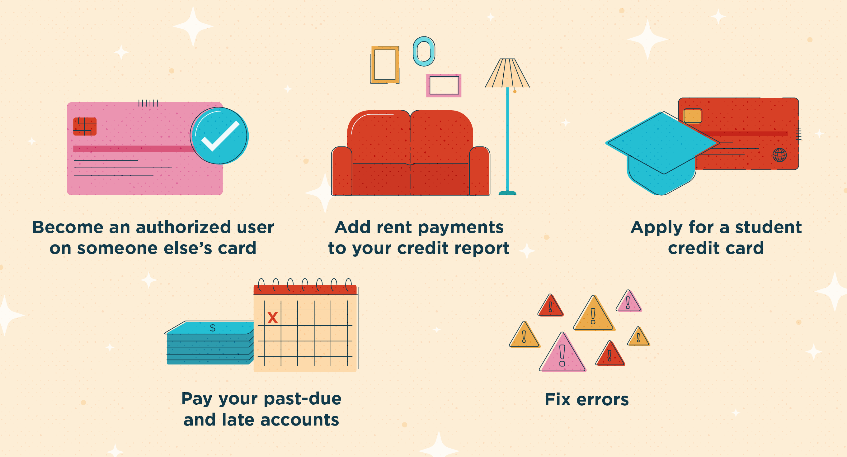 how to build credit illustration