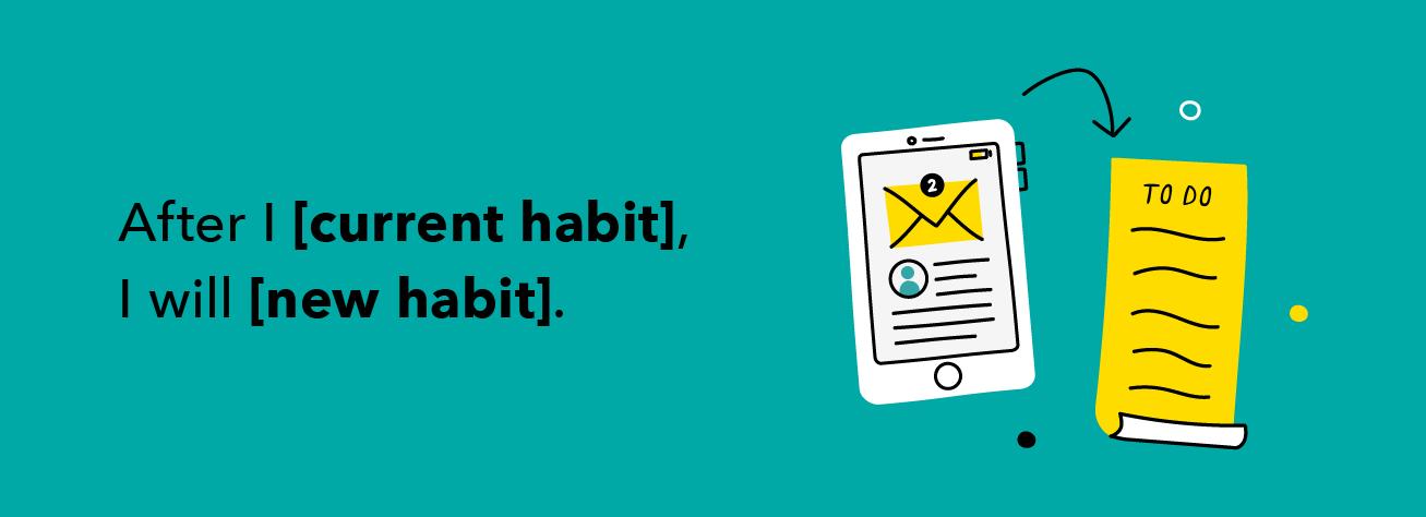 Paso 4- Adjunte un nuevo hábito monetario a un hábito actual