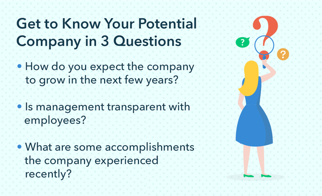get to know your potential company