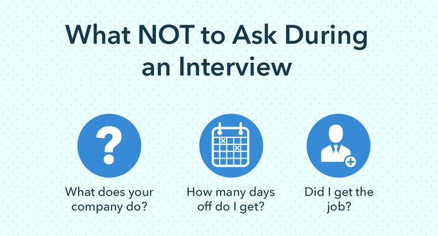 what not to ask during an interview