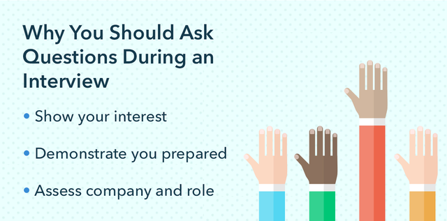 why you should ask questions during an interview